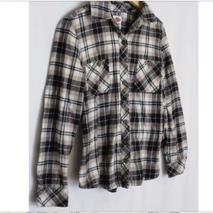 DICKIES Button Up Flannel Shirt S